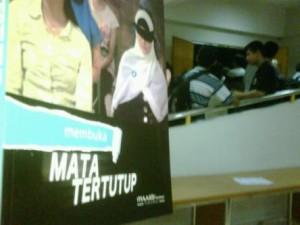 """Film berjudul """"Mata Tertutup"""" digelar di kampus UIN Sunan Kalijaga (foto:tribunnews.com)"""