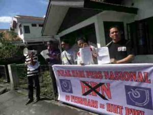 20 jurnalis di Manado gelar Aksi demo tolak HPN, Sabtu (9/2/2013) (foto: ist)
