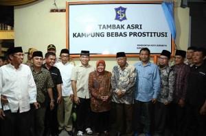 Wali Kota Surabaya Tri Rismaharini setelah menutup lokalisasi Tambakasri, Surabaya